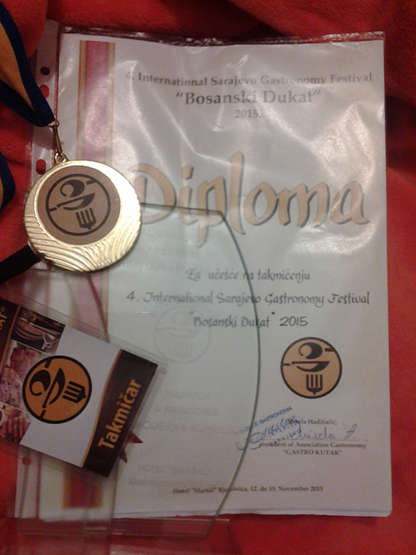 Diploma - Bosanski dukat 2015
