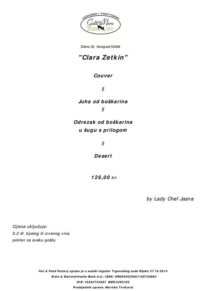 Menu Clara Zetkin